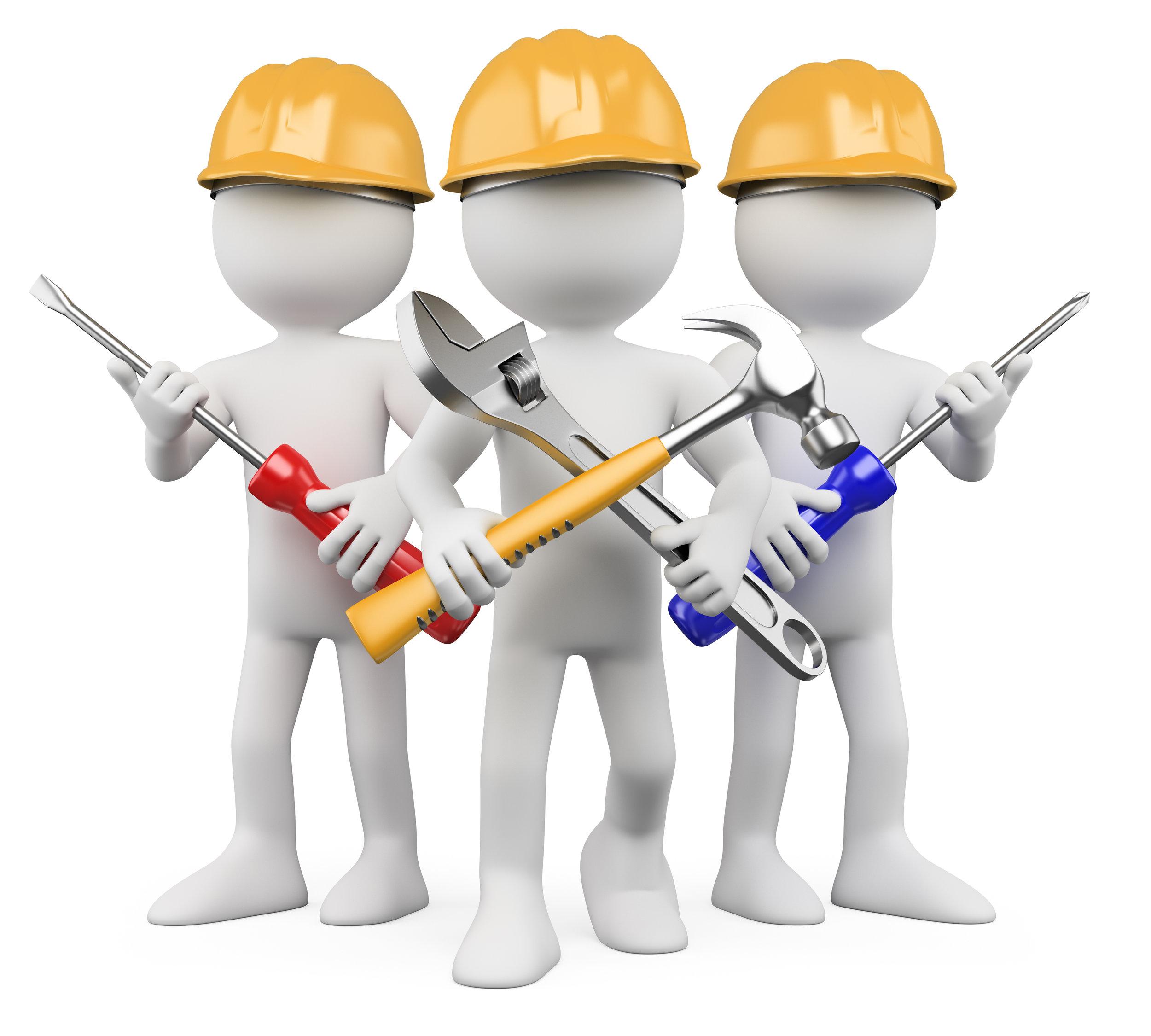 Facility clip art library. Contractor clipart maintenance