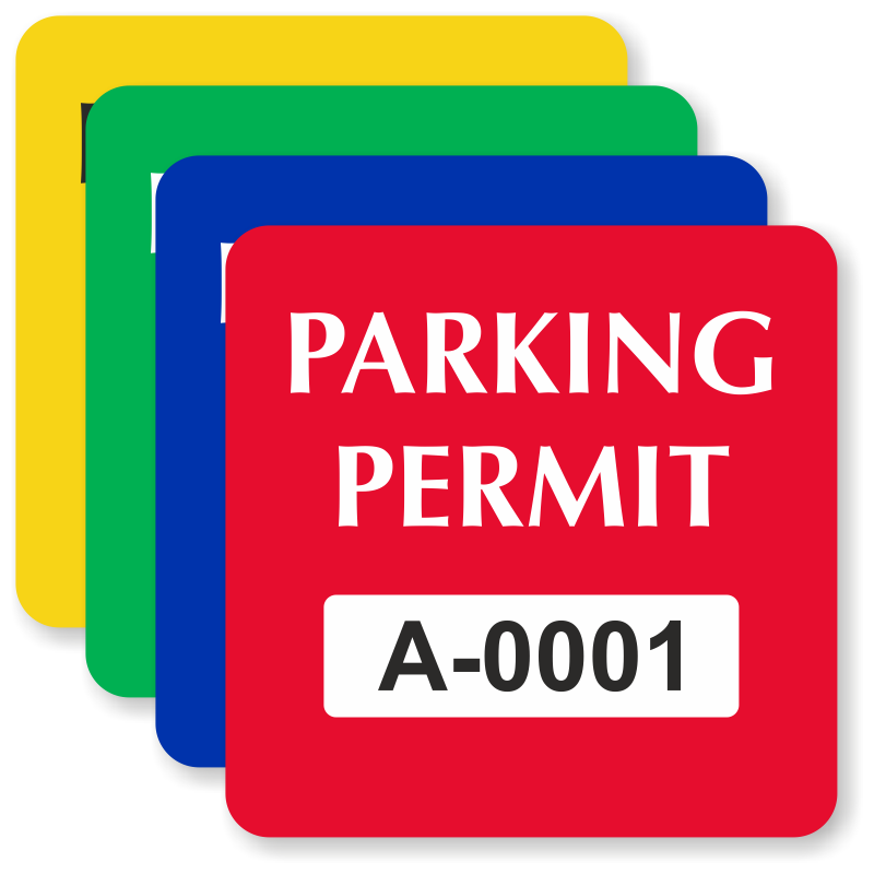 Parking lot clipart parking permit. In stock decals order