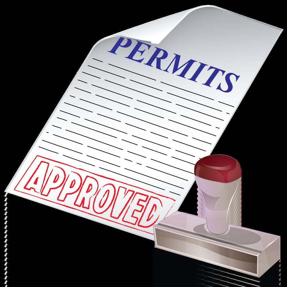 contractor clipart permit