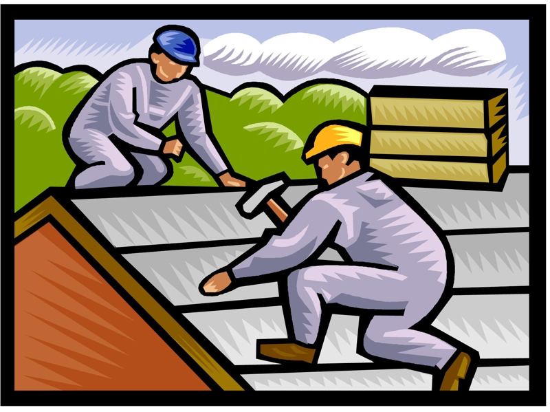 Handyman clipart roof work. Free re roofing cliparts