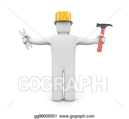 Contractor clipart skilled worker. Drawing gg gograph
