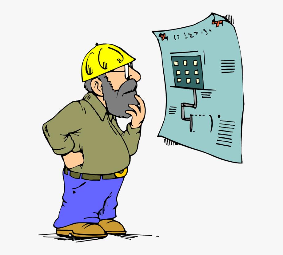 Contractor cartoon . Engineer clipart structural engineer