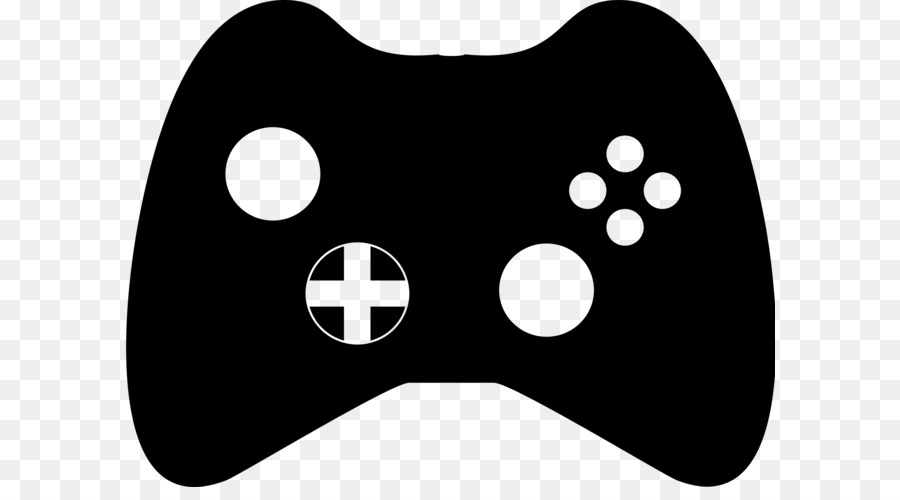 Black white xbox game. Controller clipart