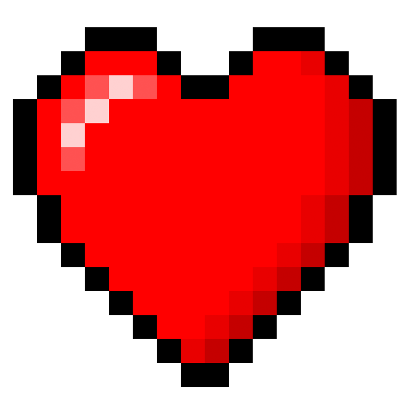 Minecraft clipart minecraft heart. Happy valentines day romance