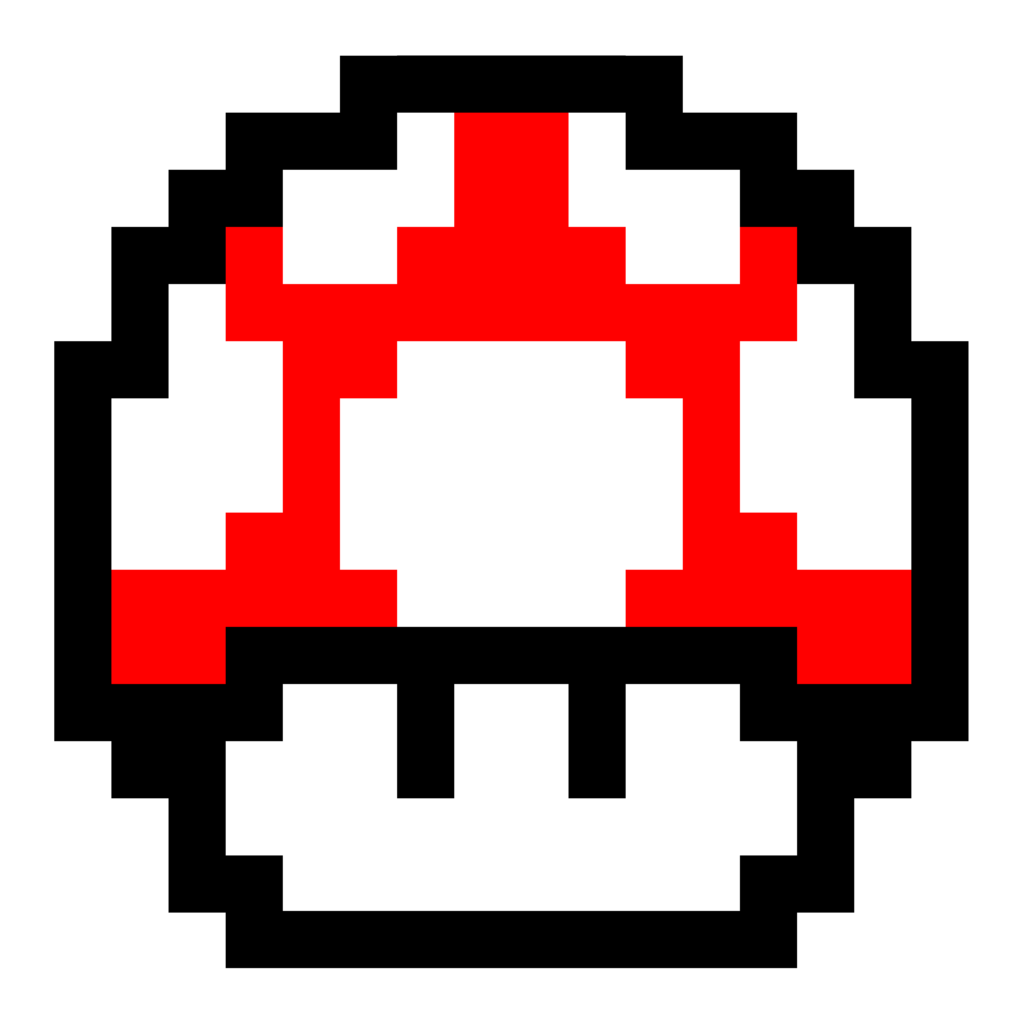Super mario red mushroom. Pokeball clipart pixelated