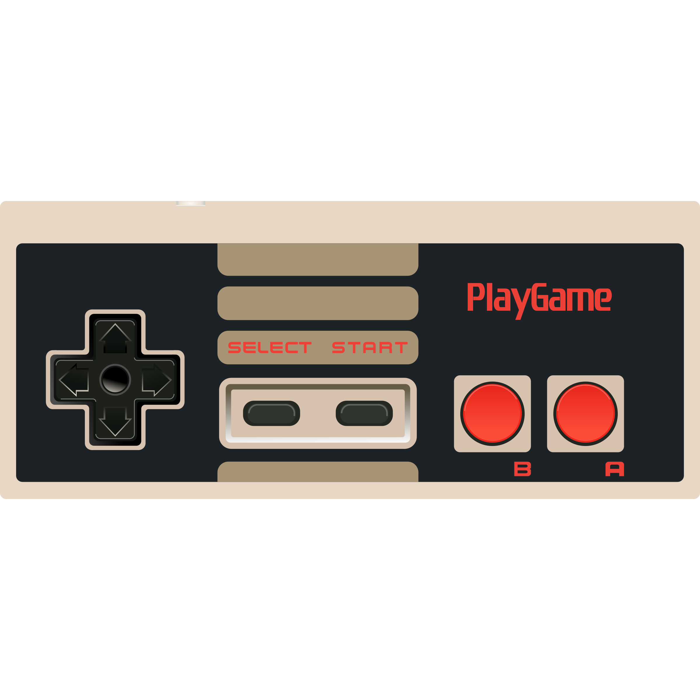 Electronics clipart controller. Video game nes big