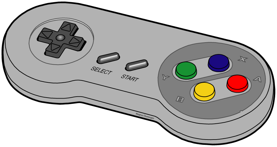 Game clipart game pad. Video controller silhouette at