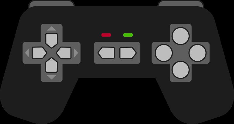 Gamepad black medium image. Game clipart game pad