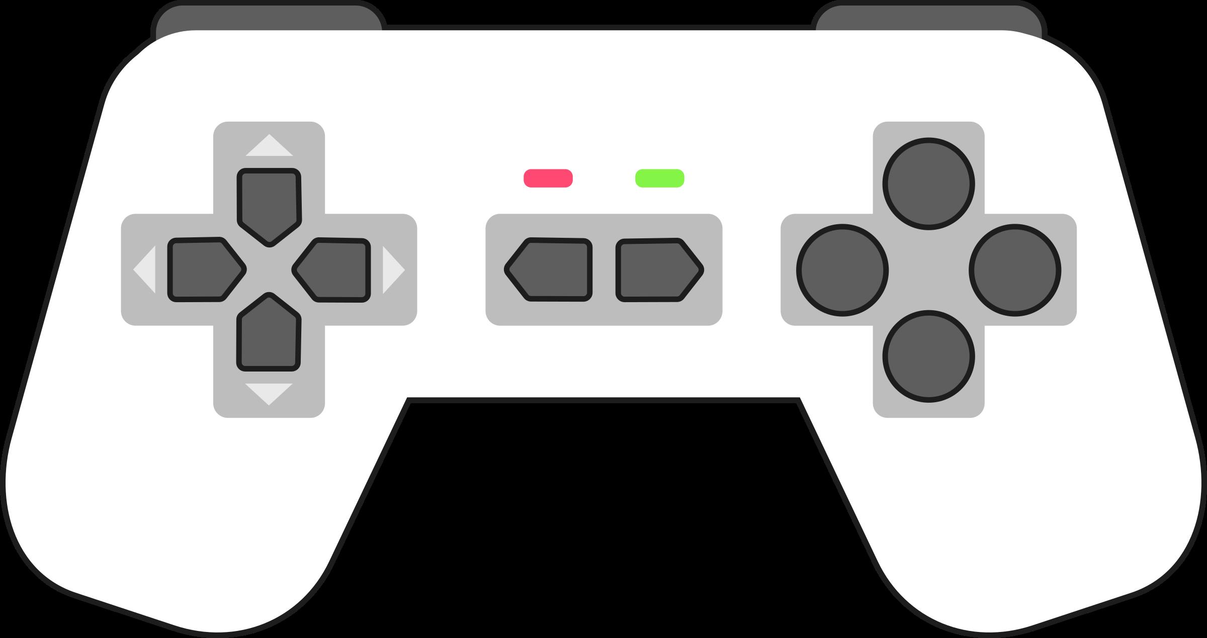 Game clipart game pad. Gamepad white