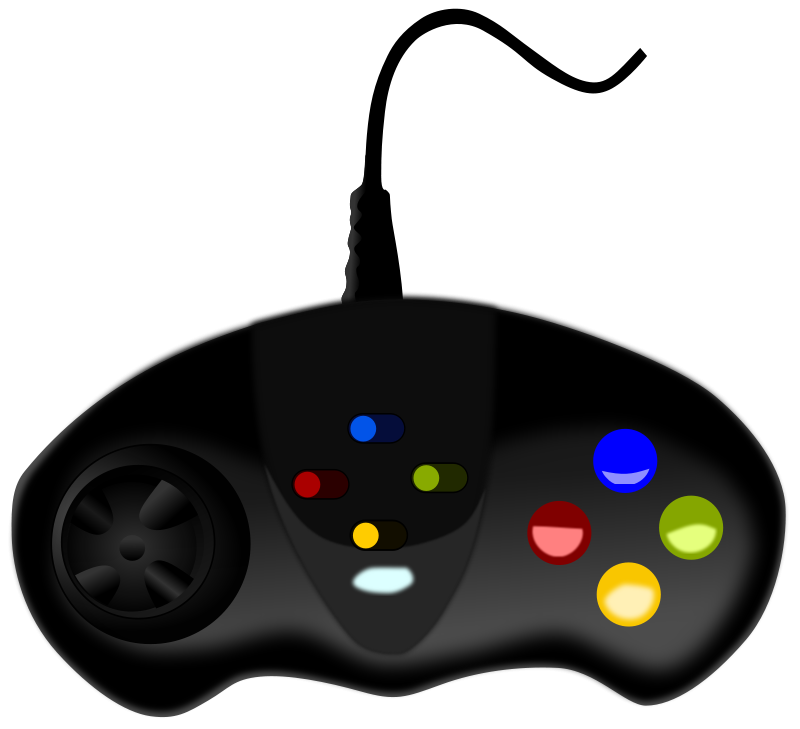 Game clipart party game. Video controller clip art