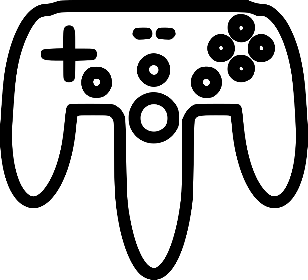 Wireless controller gamepad joystick. Game clipart remote