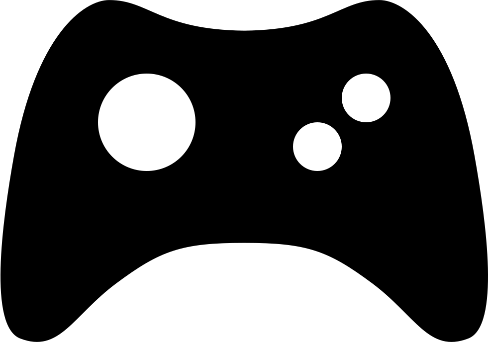 Game controller png icon. Gaming clipart svg