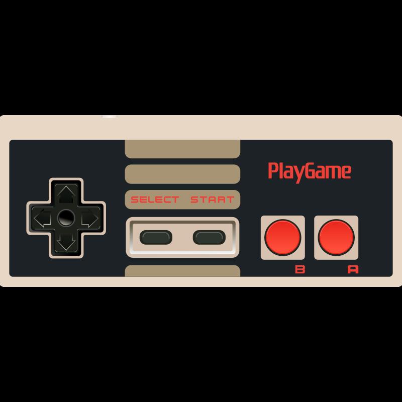 Video game medium image. Controller clipart nes controller