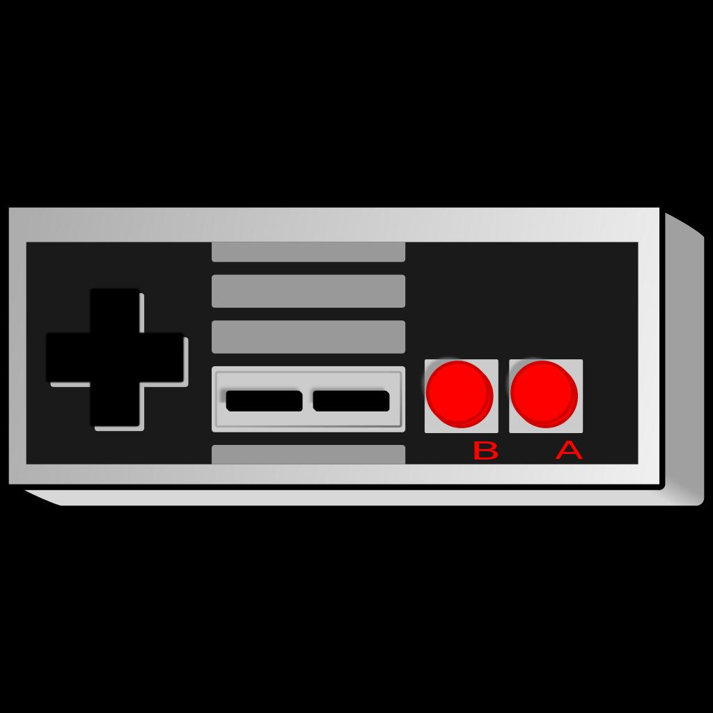 Controller clipart nes controller. File retro gamepad straight