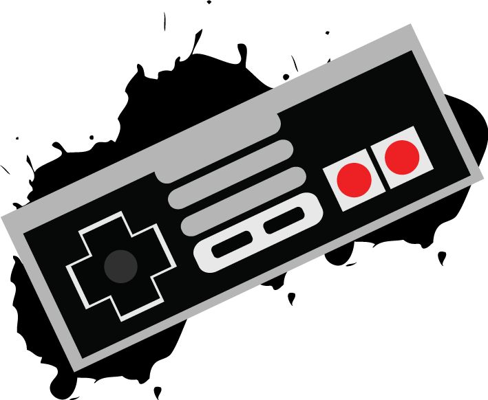 Controller clipart nes controller. Illustratioon by cartoonanimejoker on