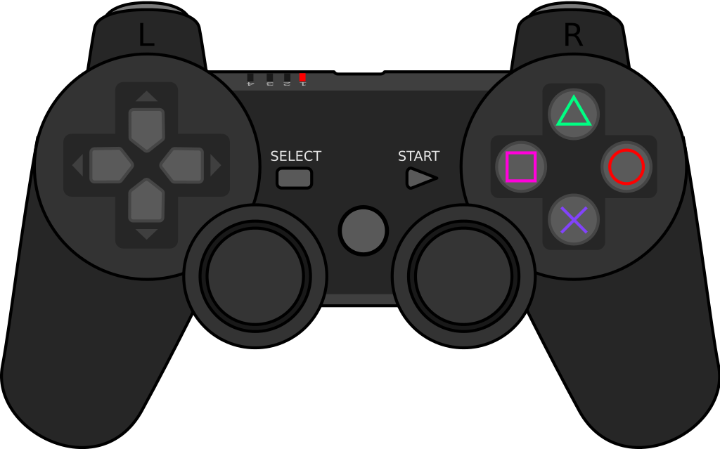 Playstation fileplaystation gamepadsvg wikimedia. Controller clipart outline