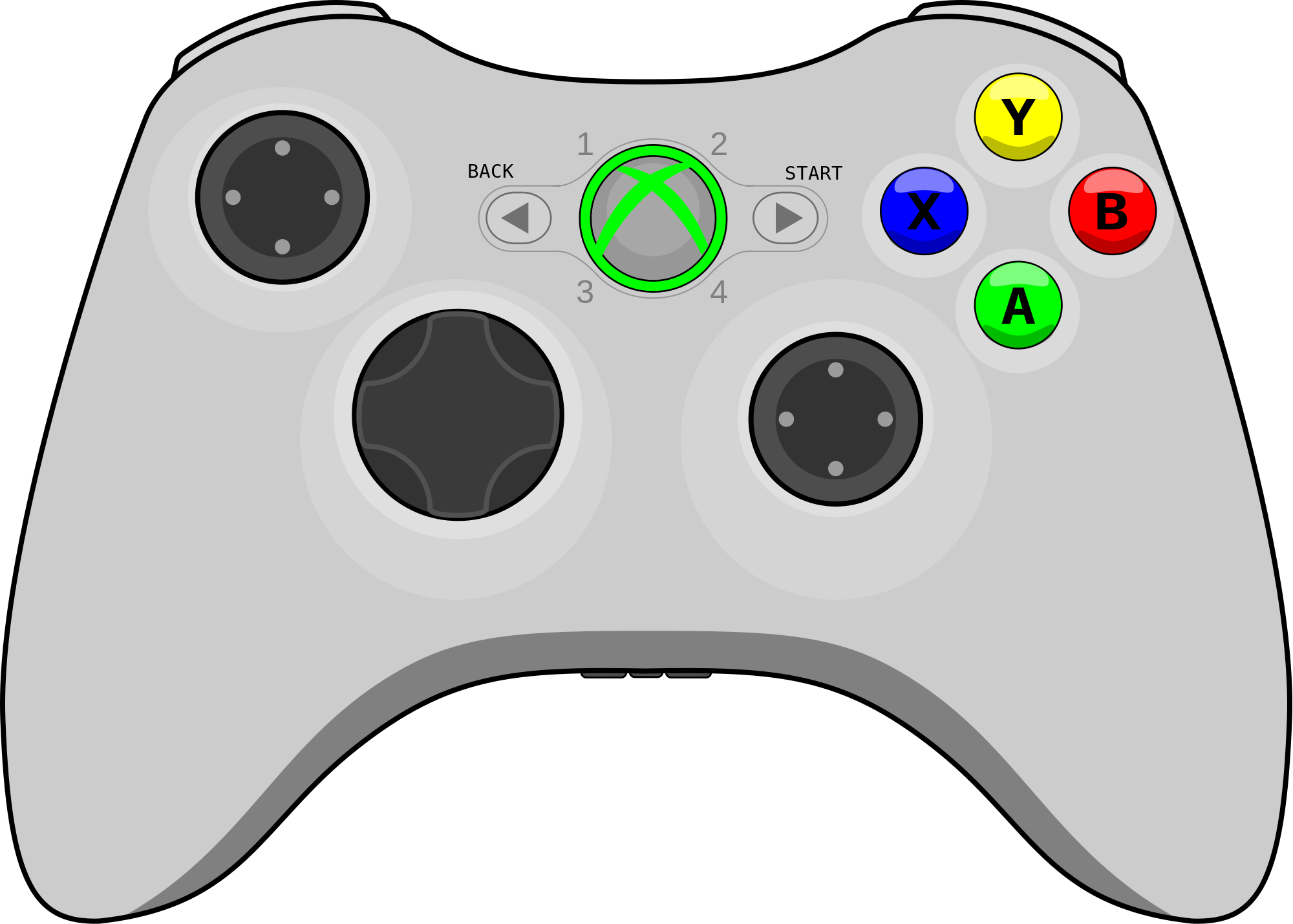 Gaming clipart svg. Xbox controller drawing at