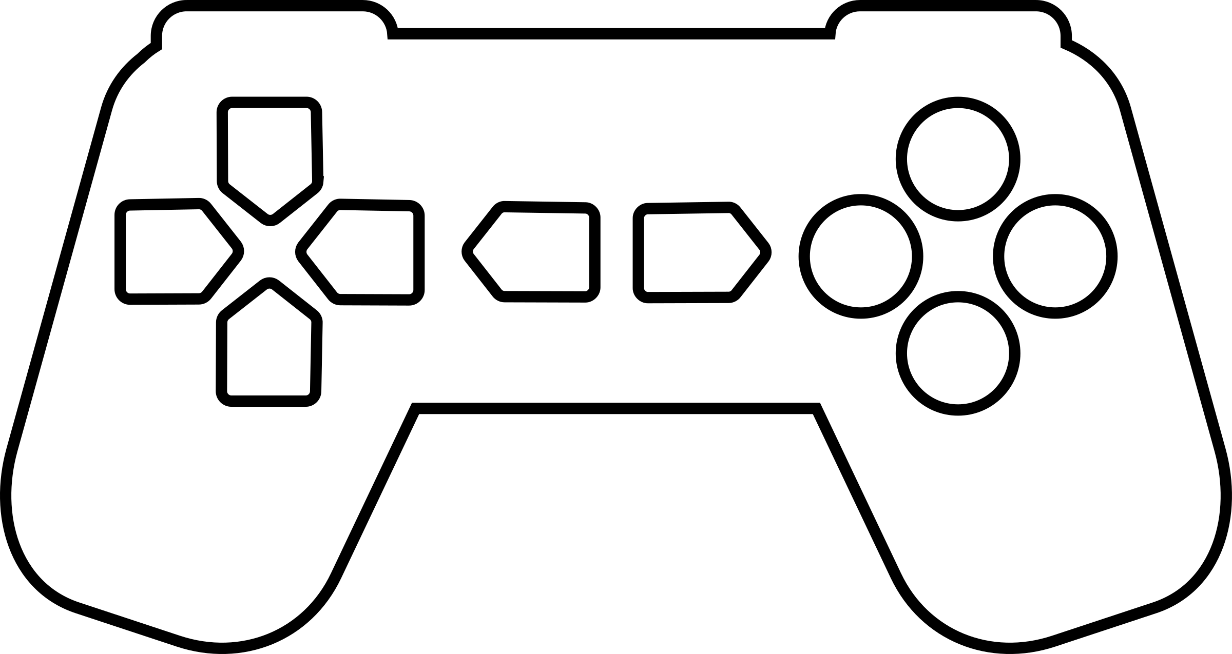 Game controller outline big. Games clipart black and white