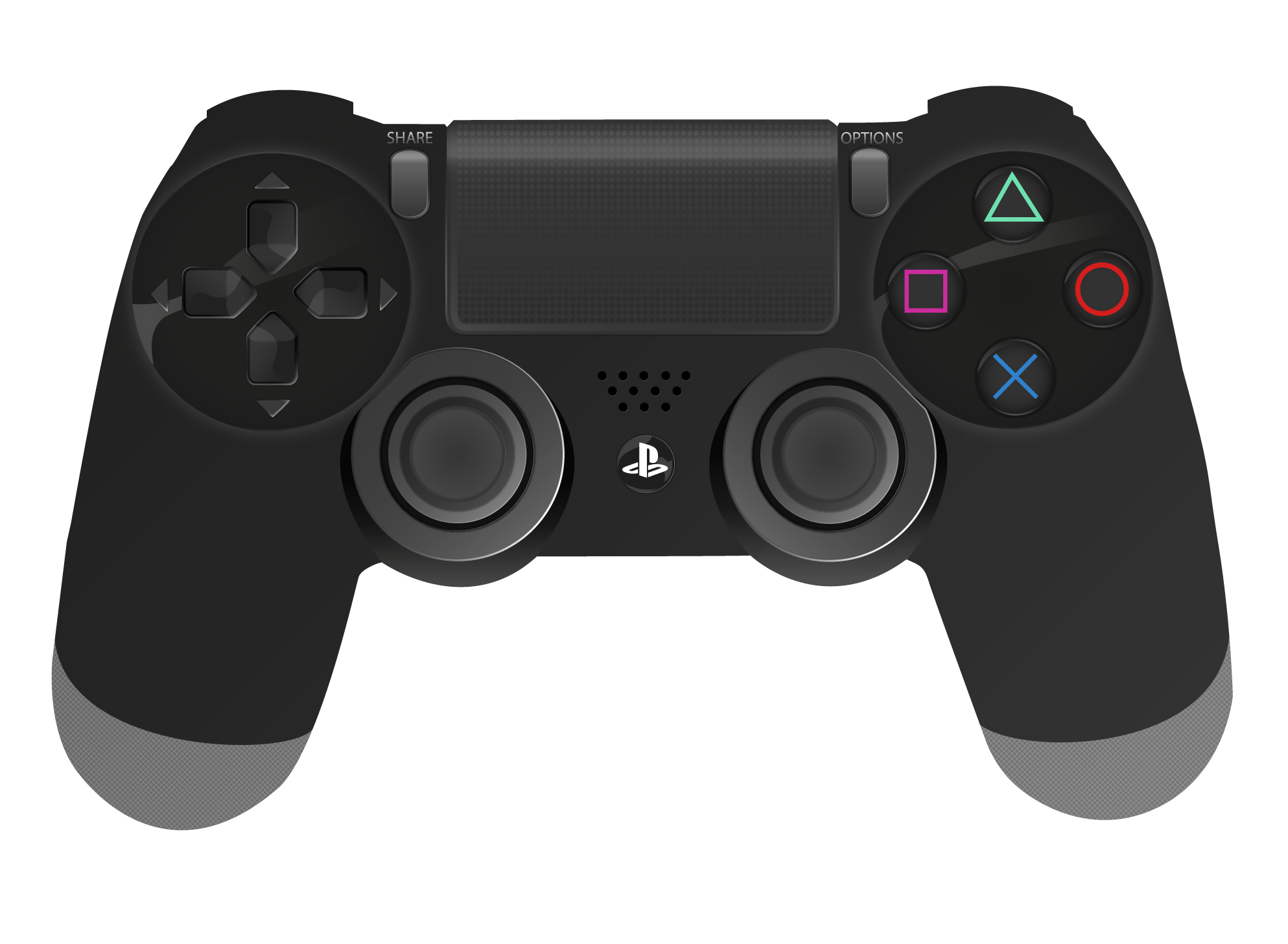 Dualshock explore on deviantart. Controller clipart playstation 4 controller