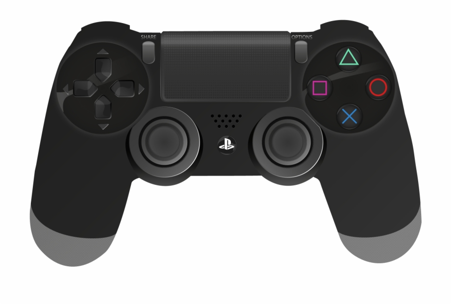 Dualshock icon . Controller clipart playstation 4 controller