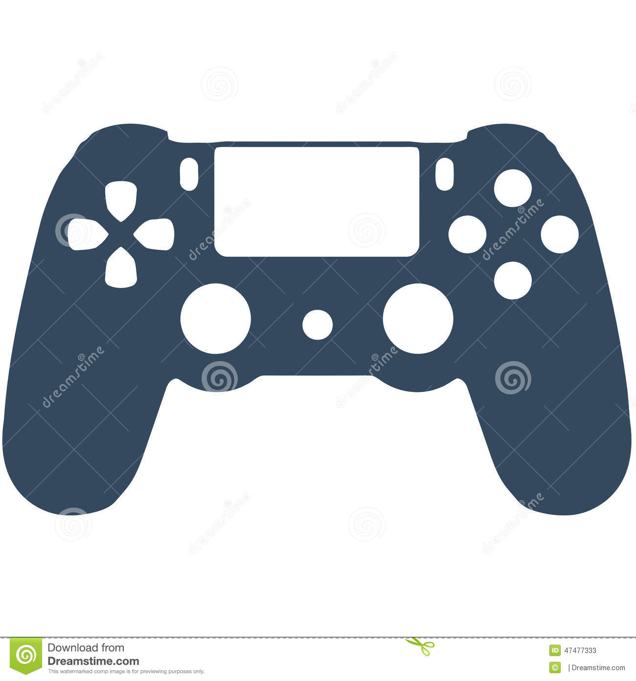 Controller clipart playstation 4 controller.  ps vector images