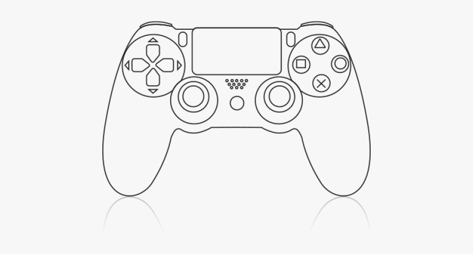 Gaming clipart playstation 4 controller. Video game remote ps
