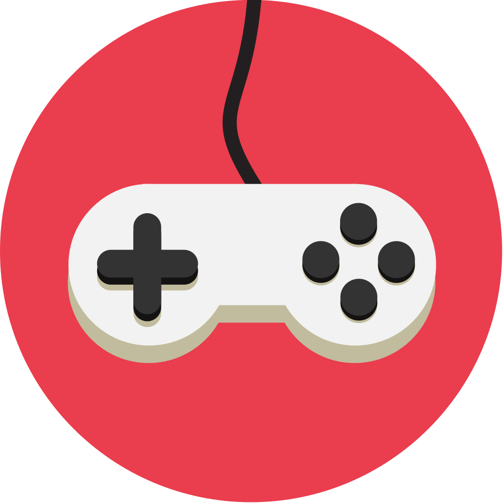 Controller red cartoon frames. Game clipart animated