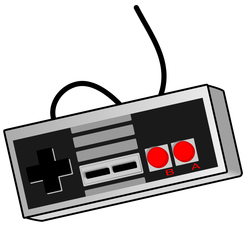 Game clipart outdoor game. Old school controller free