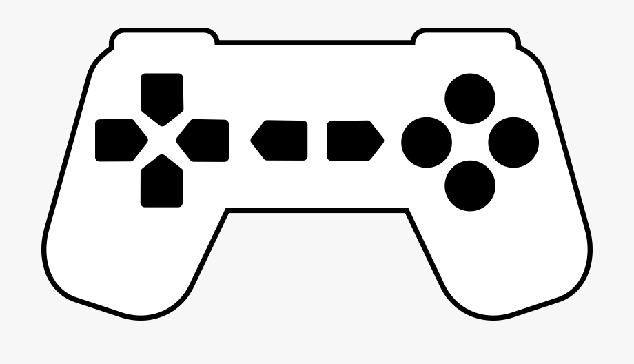 Video game controller silhouette. Gaming clipart clip art