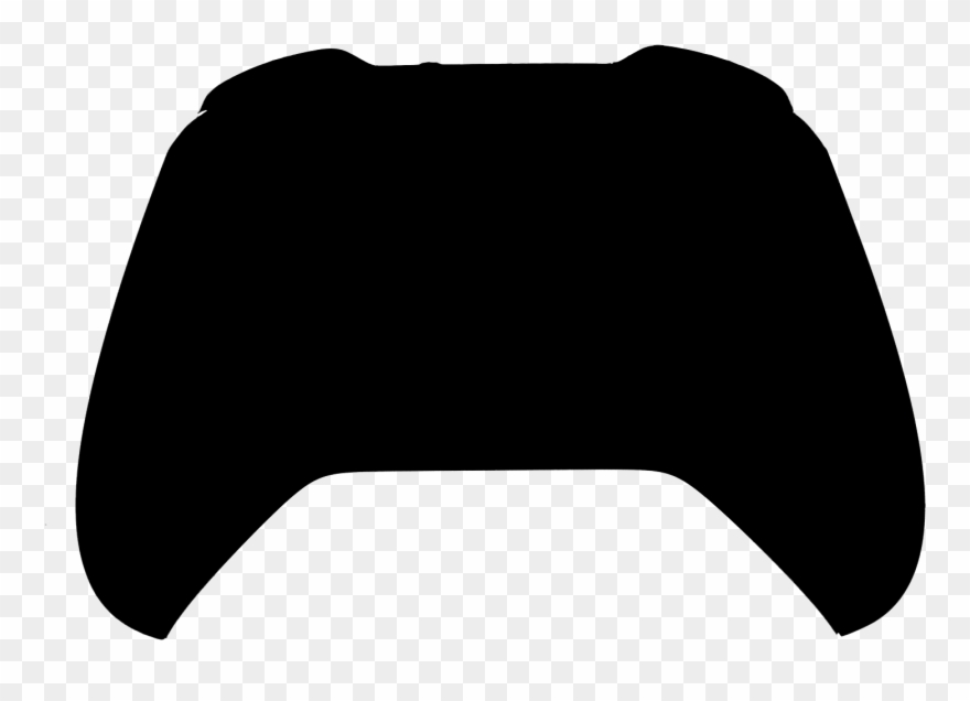 Gaming clipart xbox one s. Controller silhouette clip art