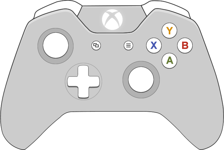 collection of controller. Gaming clipart xbox one s