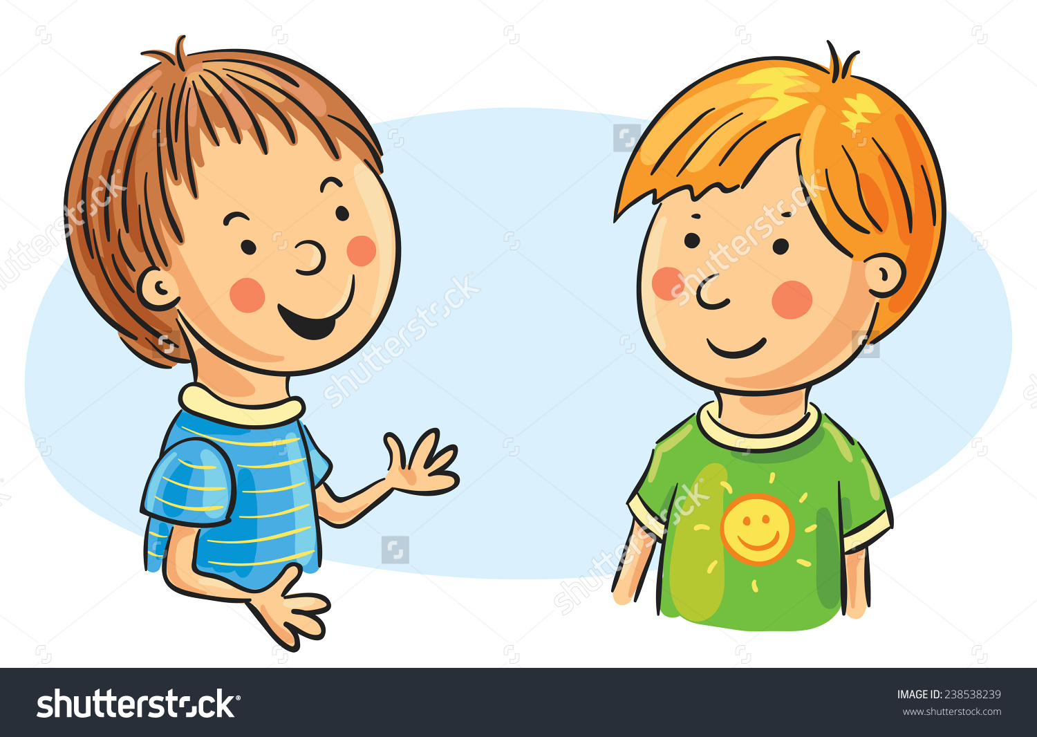 Conversation clipart.  collection of kids