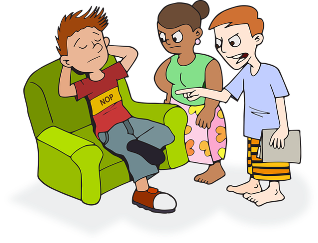 Conversation clipart 3 person. The lazy yes job