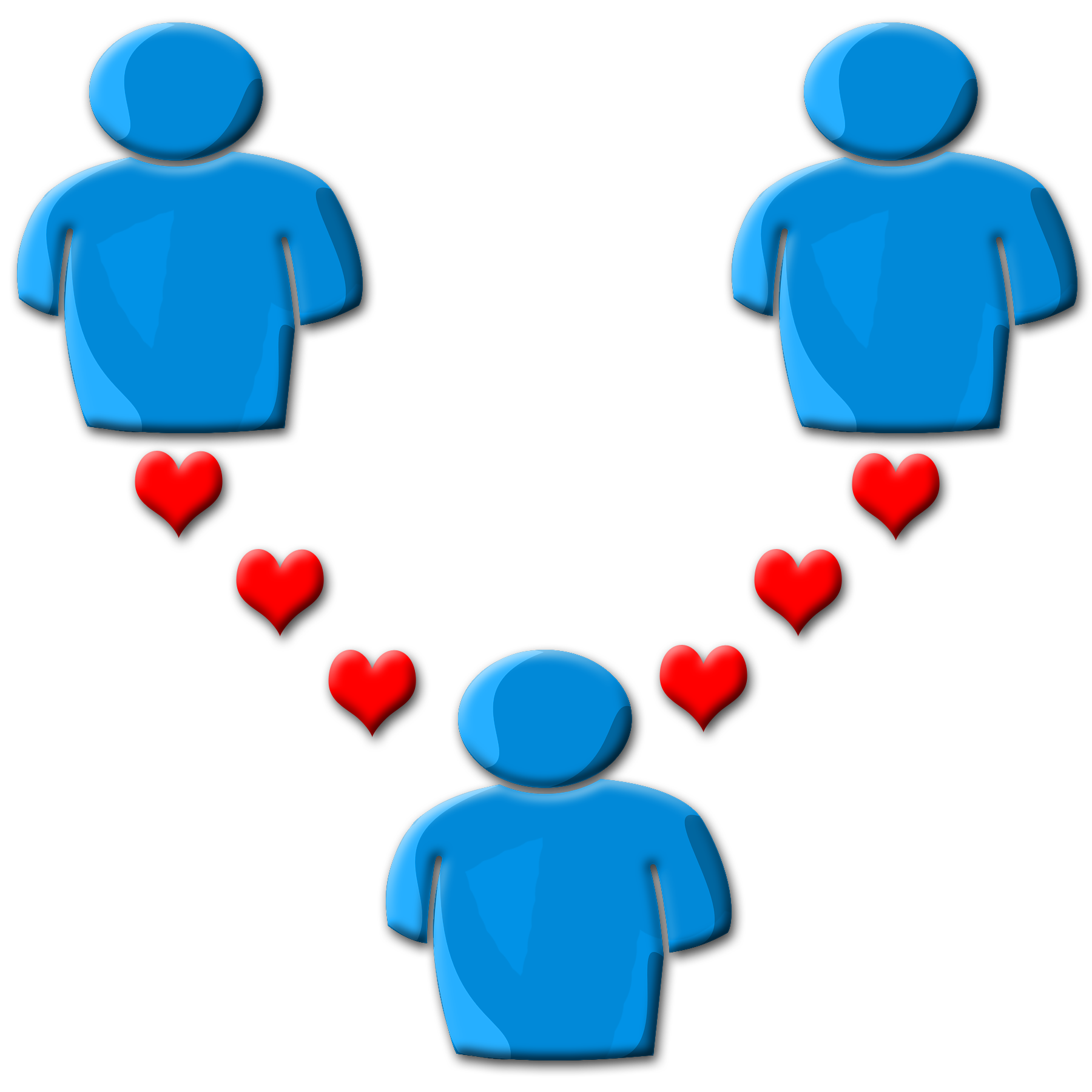 Conversation clipart 3 person. The inn between polyamory