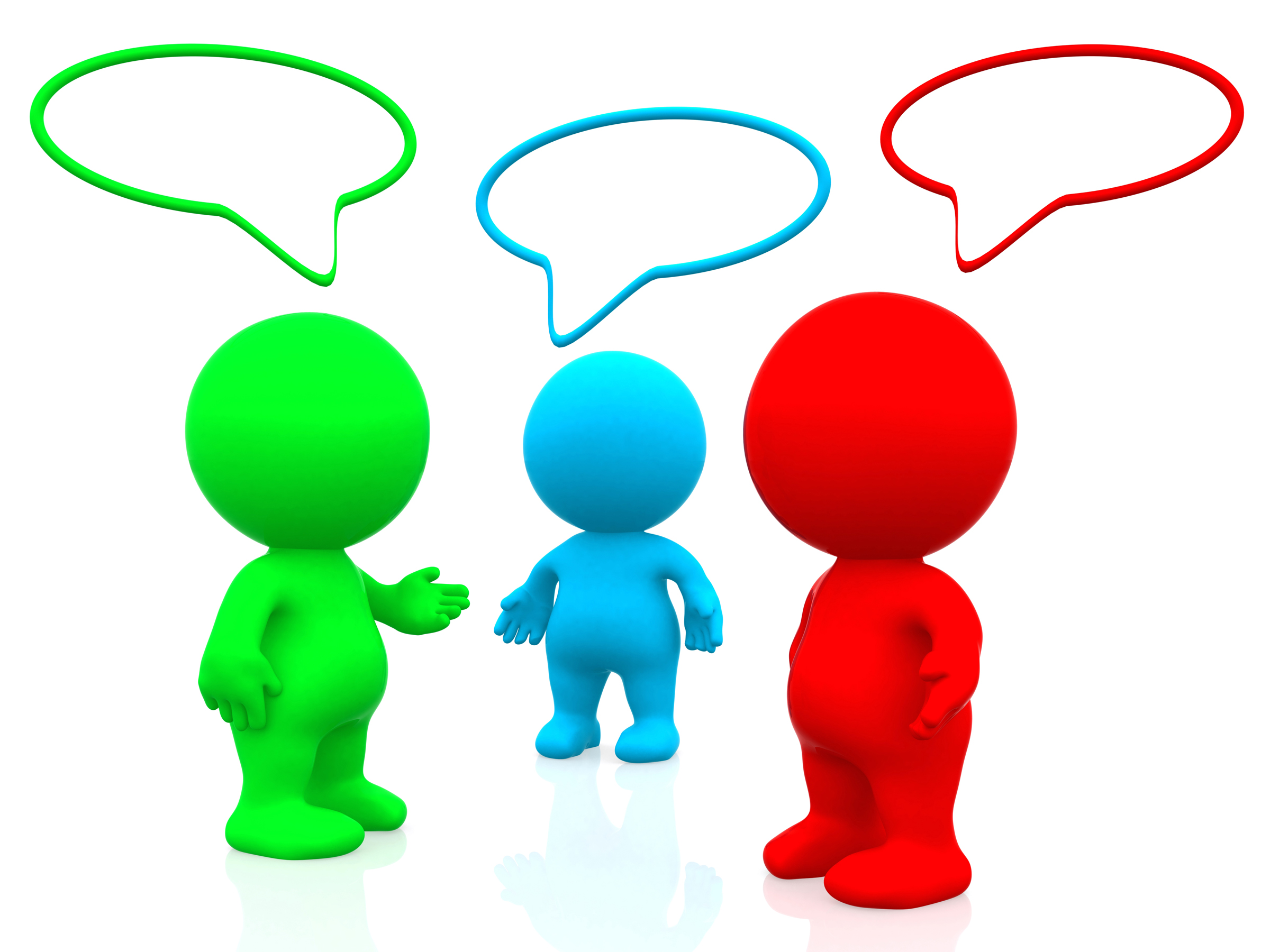 Tactful vs tactless a. Conversation clipart 3 person