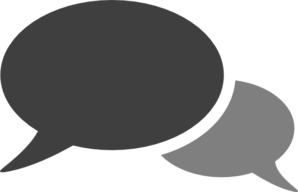 Conversation clipart. Gray clip art at