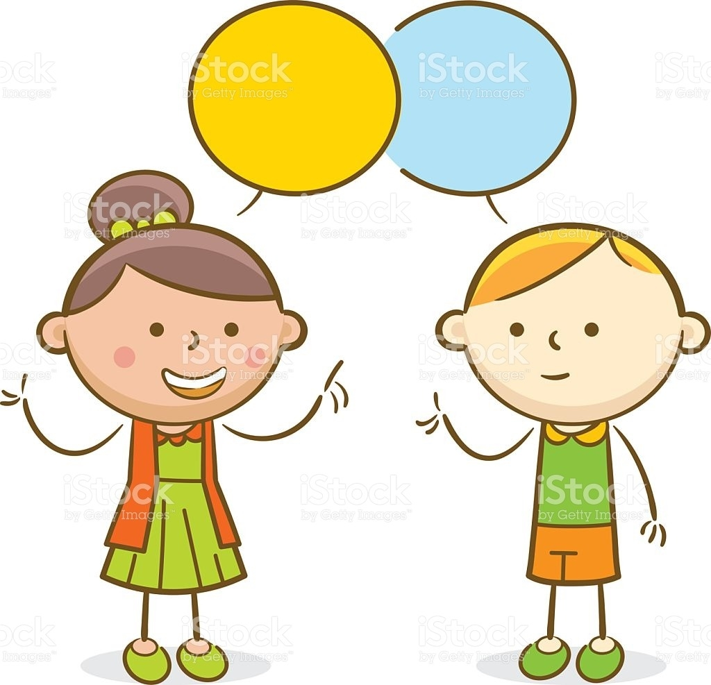 collection of kids. Conversation clipart