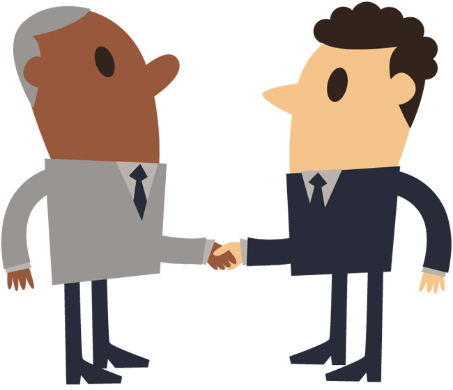 Business shake hand simple. Young clipart young old