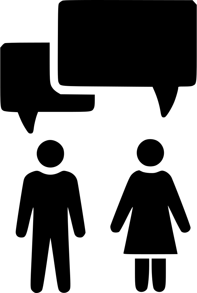 Conversation Chat Argument Couple Marriage Svg Png Icon Free