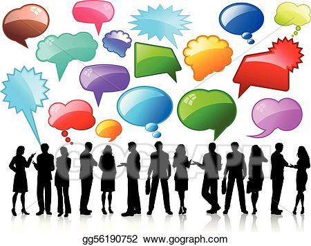 Conversation clipart business conversation. Eps vector conversations stock