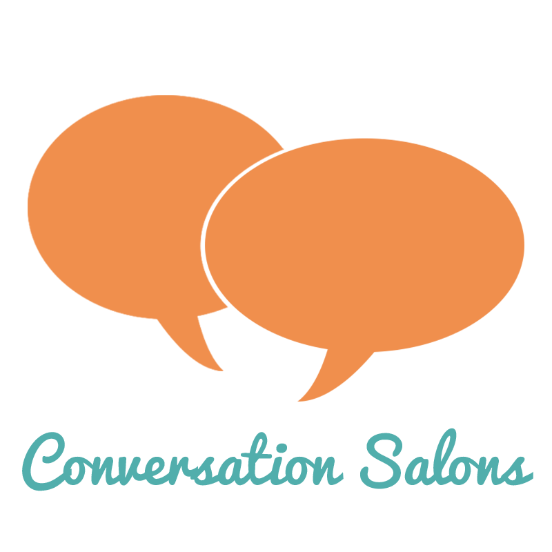 Salons connecting people one. Conversation clipart chit chat