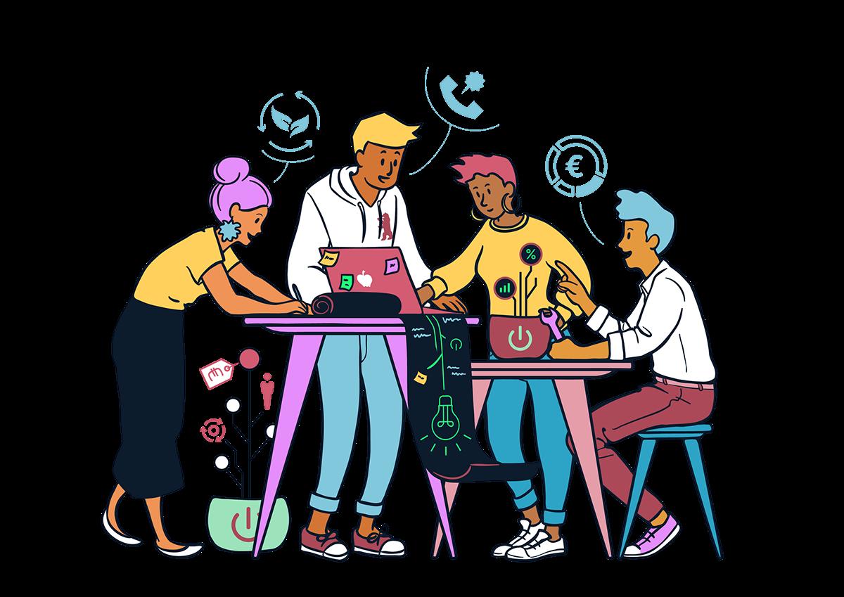 Conversation clipart class debate. Startup illustrations on behance