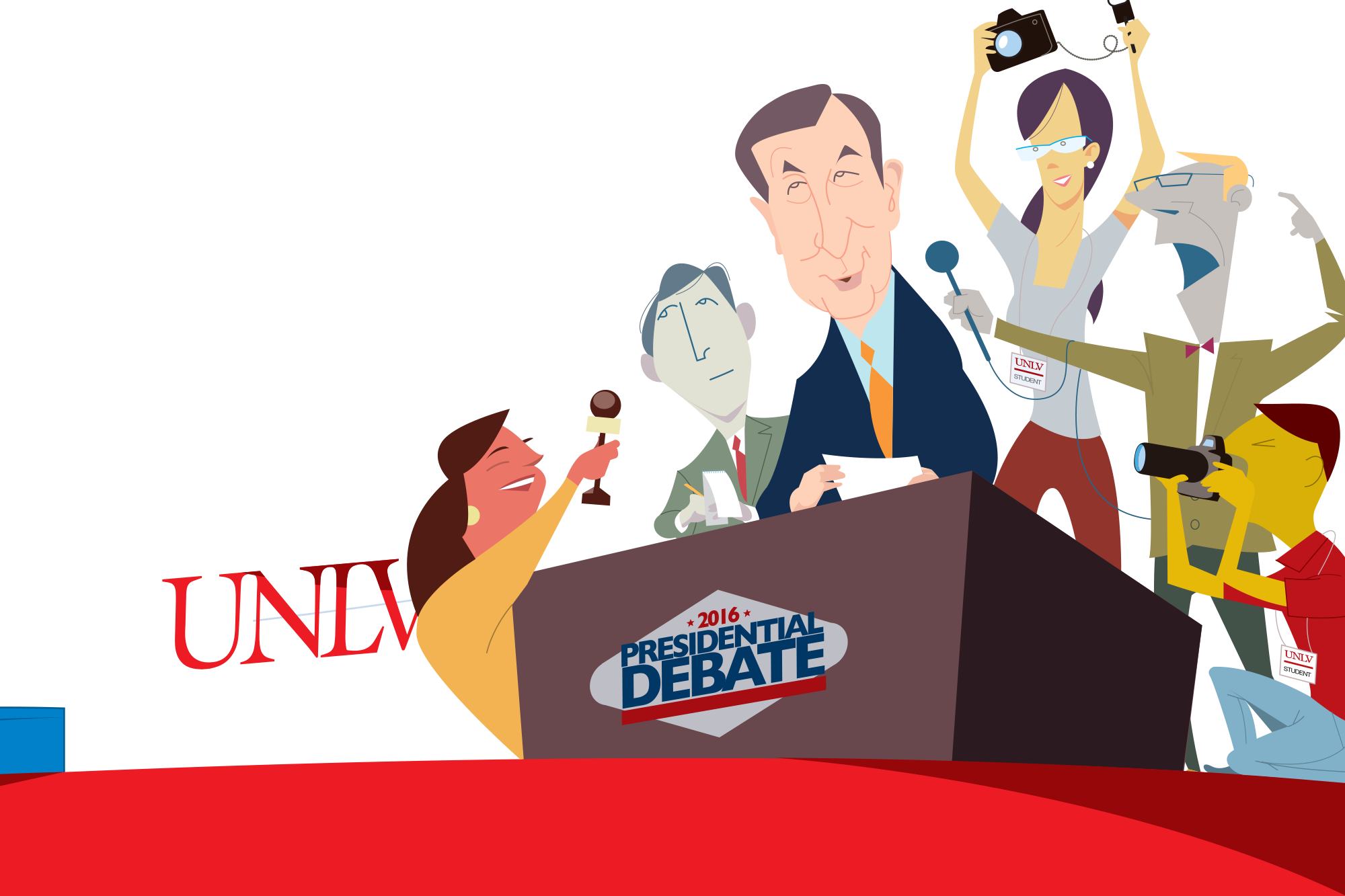 The debate vegas style. Discussion clipart industrial relation