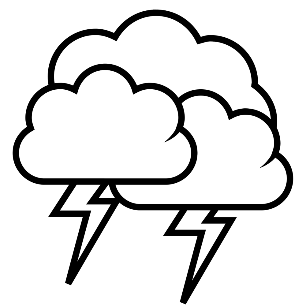Drawn cloud thunder free. Nickel clipart printable