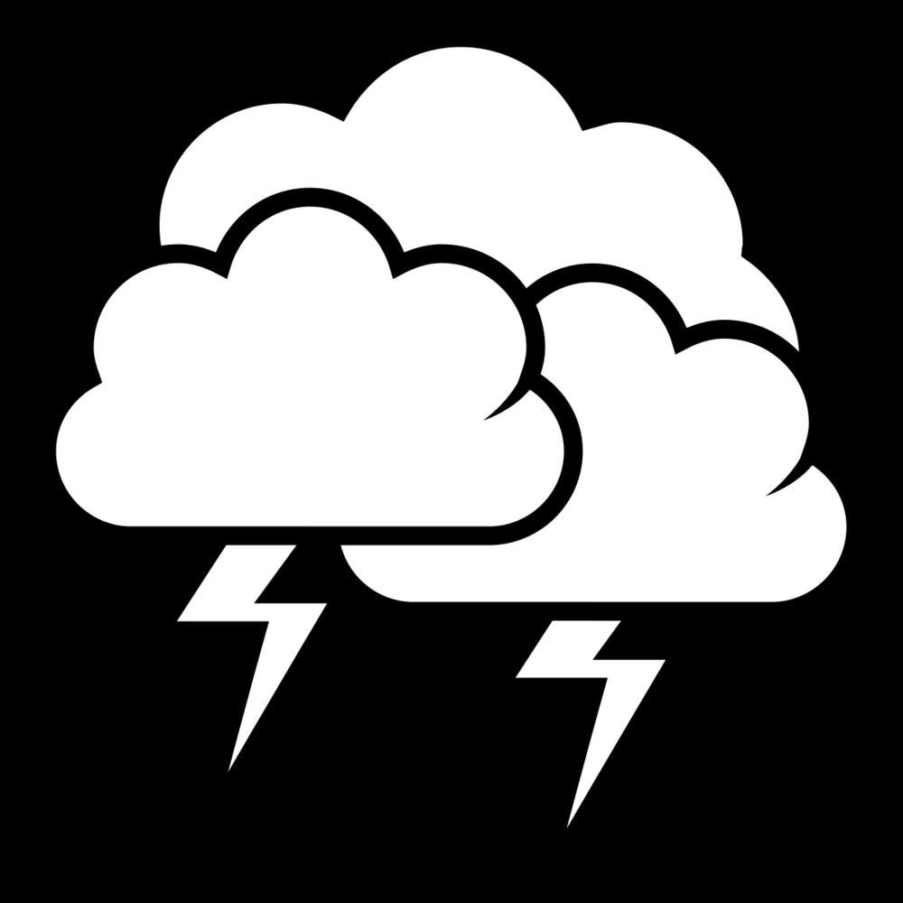 Drawn Cloud thunder