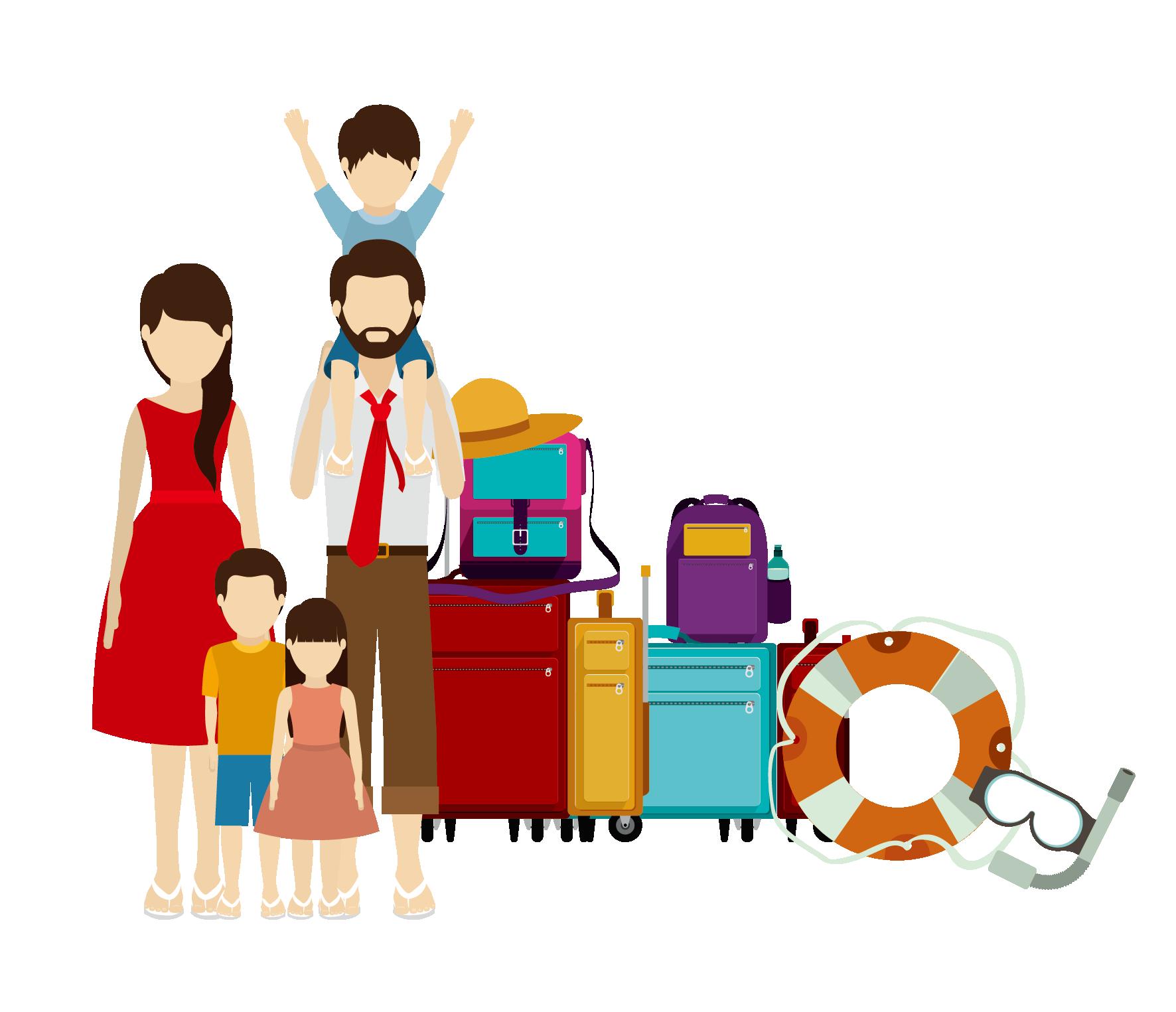 Travel illustration transprent png. Conversation clipart family conversation