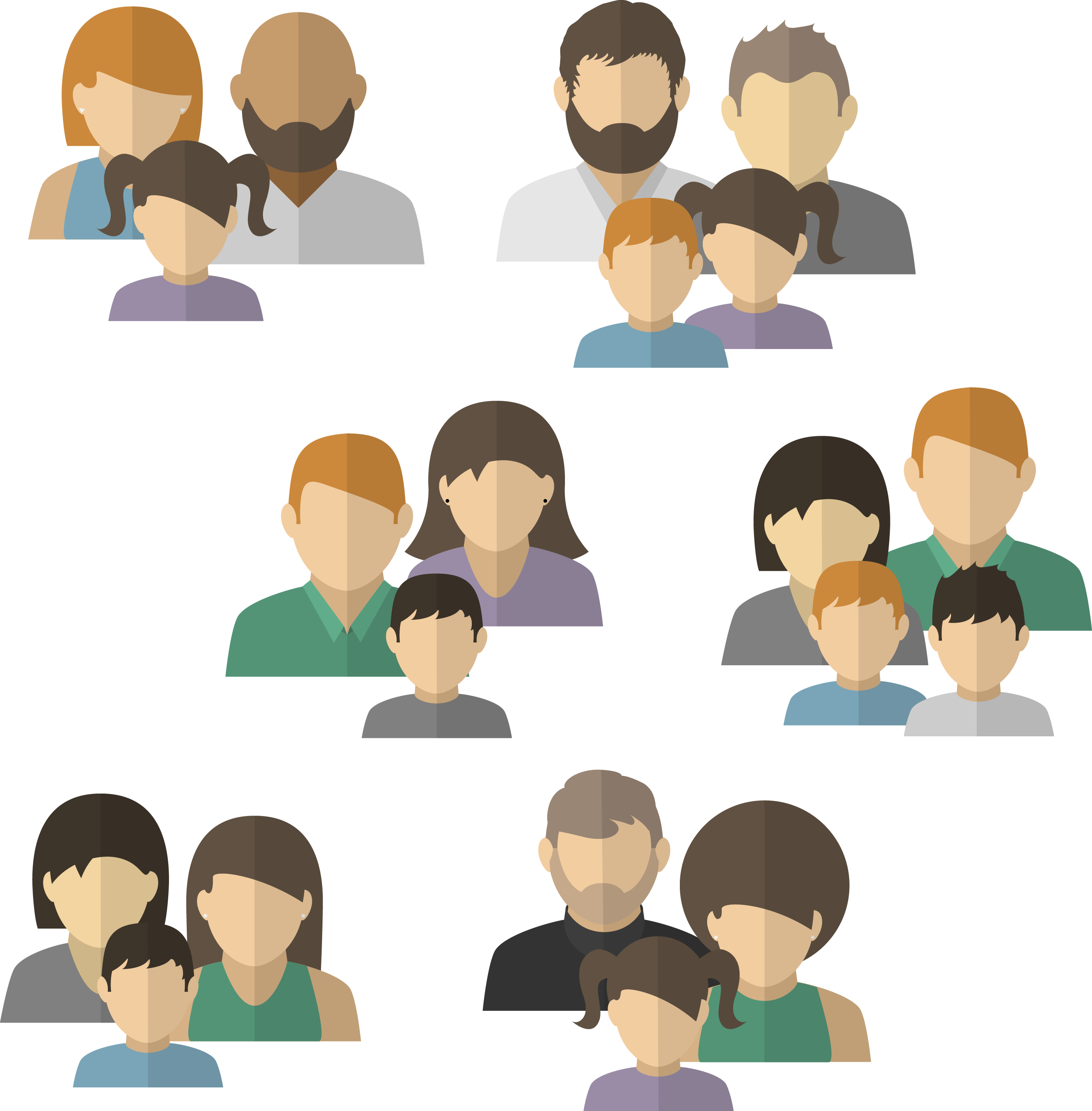 Conversation clipart family conversation. Avatar child members of