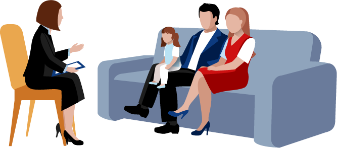 Counseling school of skills. Psychology clipart marriage family therapist