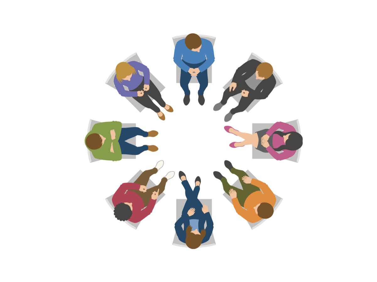 When therapists get together. Conversation clipart group therapy