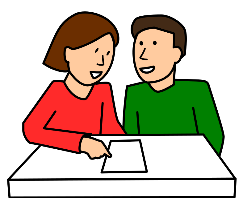 Pair talking partner free. Professional clipart partnership